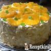 Vaníliás gyümölcstorta sütés nélkül