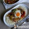 Csirkemellen sült zöldségek tojással