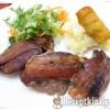 Baconbe göngyölt fűszeres pulykamáj