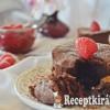 Csokis láva tortácska málnával - paleo