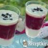 Gyümölcszselés banánkrémes pohárdesszert - paleo