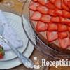 Kávés csokihabos torta eperrel - paleo