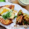 Omlós csirkemell szelet tükörtojással és kaporszósszal - paleo
