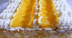 Tejszínes narancstorta