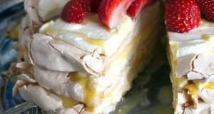 Citromos habcsók torta