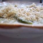 Fehérboros cukkini zöldspárga krémleves reszelt sajttal 1