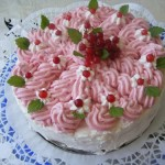 Sütés nélküli ribizli torta