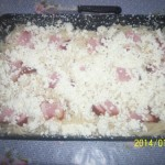 Spagettis rakott túrós csusza 1