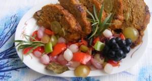 Szőlős vagdalt édes savanyú zöldség körettel