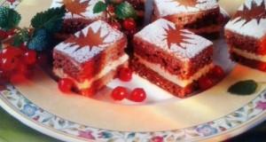 Csokis lekváros sütemény