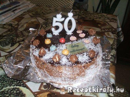 Vaníliakrémes csoki torta