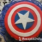 Amerika kapitány torta 2
