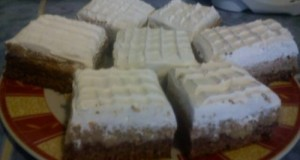 Gesztenyés habos sütemény