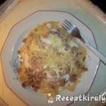 Túrós tejfölös sonkás sajtos tészta 2