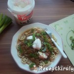 Vörösboros gombapaprikás tésztával 3