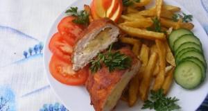 Almás-sajtos csirkemell