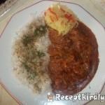 Vörösboros tejfölös zúzapörkölt petrezselymes rizzsel 3