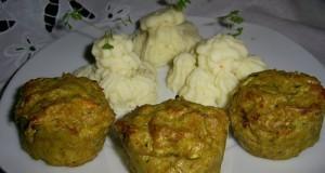Cukkinis fűszeres húsmuffin