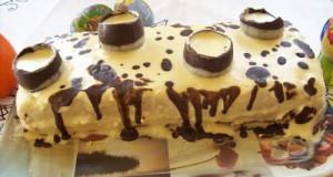 Tojáslikőrös mascarponés torta csoki tojással
