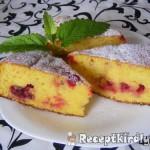 Joghurtos ribizlis torta 1