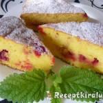 Joghurtos ribizlis torta 3