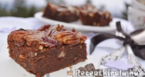 Pekándiós brownie