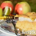 Pudingos habos rácsos almás pite 1