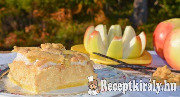 Pudingos habos rácsos almás pite