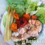 Sült lazac zöldségekkel 1
