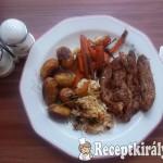 Kacsamell vele sült újkrumplival és répával, párolt rizzsel 2