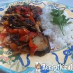 Ratatouille rizzsel