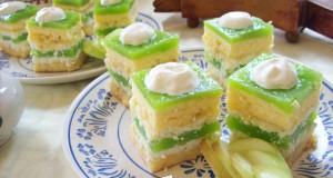 Zöldalmás sütemény