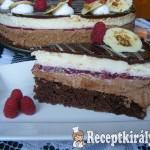Málnás csokimousse torta
