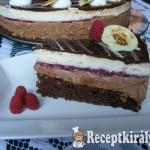 Málnás csokimousse torta-4