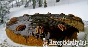Mogyorós gesztenyés sütemény csokimázzal