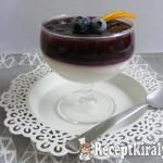 Áfonyás, vaníliás panna cotta 2