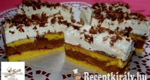 Csokis marcipános szelet