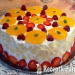 Vaníliás gyümölcstorta sütés nélkül 2