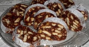Csokis kekszes szalámi