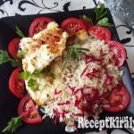 Tepsiben sült sertéskaraj sajttal sonkával és céklás rizzsel 1
