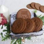 Kakaós sütipecsétes keksz karamell krémmel 2