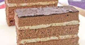 Csokis, krémes piskóta