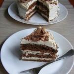 Kávés-mascarponés tiramisu torta 2