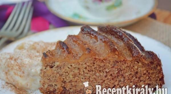 Almapürés mandulás sütemény – paleo