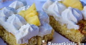 Ananászos kókuszos torta – paleo