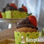 Gesztenyés muffin csokis krémmel - paleo 2
