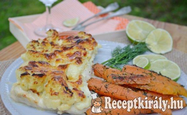 Krémes karfiollal rakott csirkemell - paleo