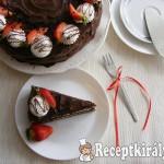 Csokoládétorta tejszínes túrókrémmel 2