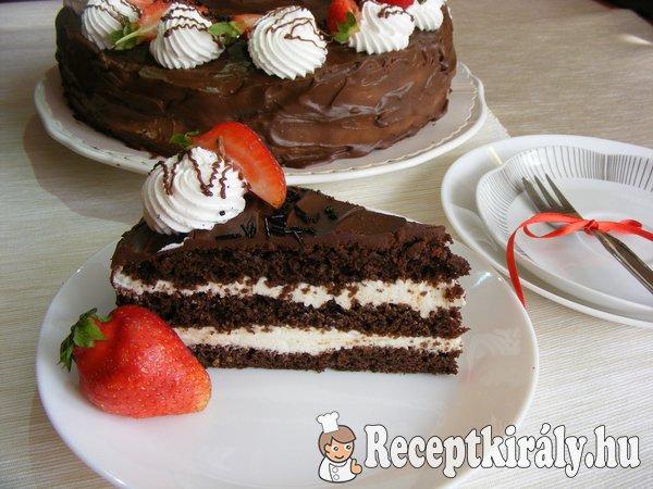 Csokoládétorta tejszínes túrókrémmel 4