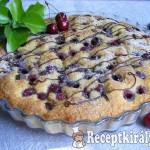 Cseresznyés-csokoládés joghurtos pite 1